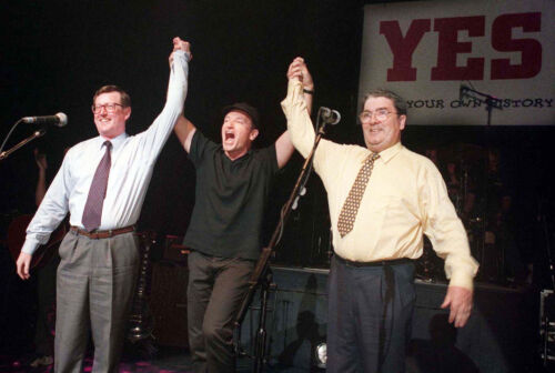 John Hume Bono David Trimble Waterfront Hall Concert for Yes