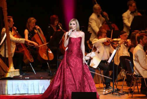 Katherine Jenkins Red Dress Waterfront Hall